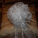 Sheer Wire Ribbon Pew Bow. Made when ordered. Free Shipping with 10 or more bows.