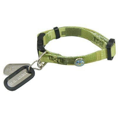 Army Military Pet Collar And Dawg Tagz Fits 6 - 9 inch