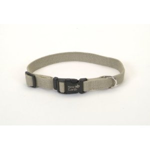 New Earth Soy Dog Collar Olive Fits 8 - 12 Inch