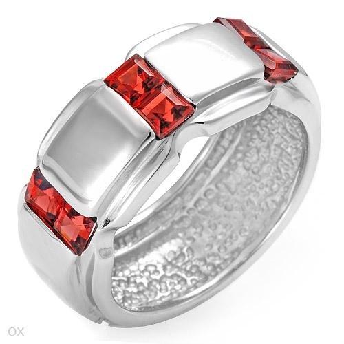 1.30ct Garnet Wedding Band Ring Sz 6