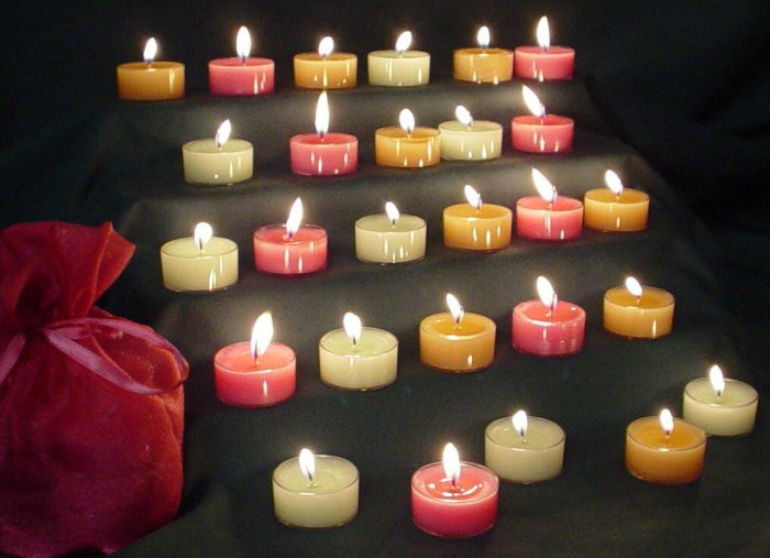 Sparkling Tealight Candles-Peaches & Cream
