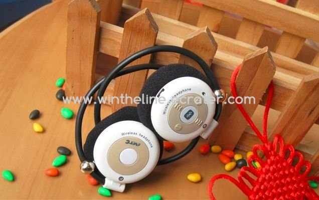Evere T909S Bluetooth Wireless Stereo Headphone support A2DP White -- Freeshipping