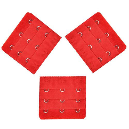 3pcs Red Bra Extender 3 Hook Bra set Lingerie