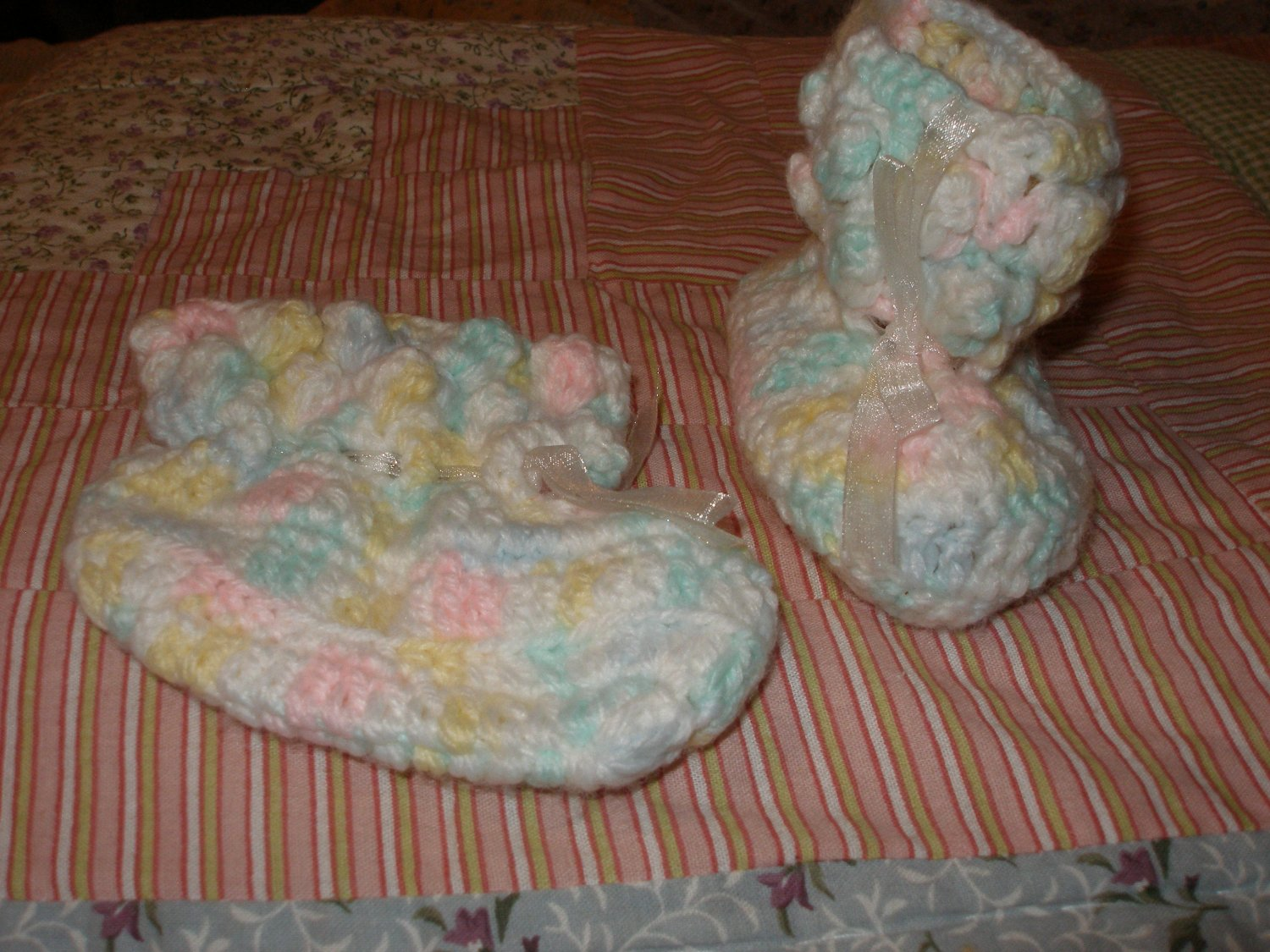 Pastel variagated booties