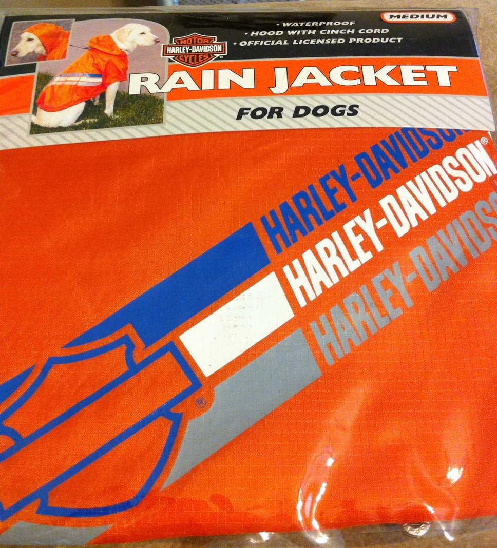 Harley Davidson Rain Jacket for Dogs