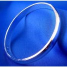 Silver plated Polished Thick bangle Bracelet