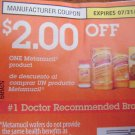 $2 OFF ONE Metamucil Product exp 7/31 - Lot of 20