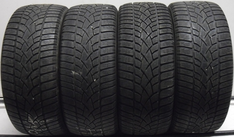 4 2454517 Dunlop 245 45 17 WINTER Part Worn Car Tyres SNOW Sport 3D x4 Four 4mm to 5mm