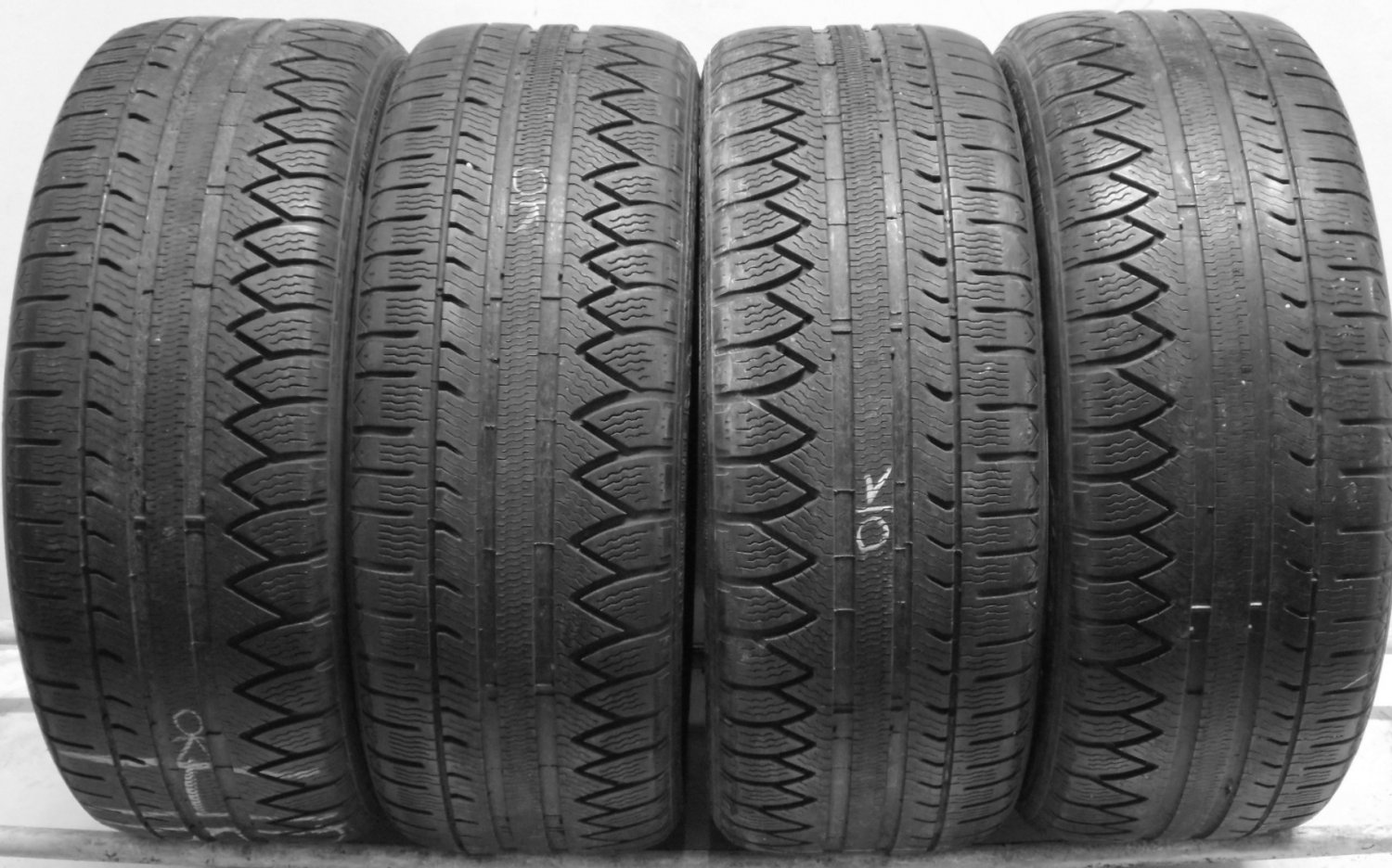 4 2255017 Michelin 225 50 17 Part Worn Car Tyres WINTER SNOW PA3 Alpin x4 Four 4mm to 5mm