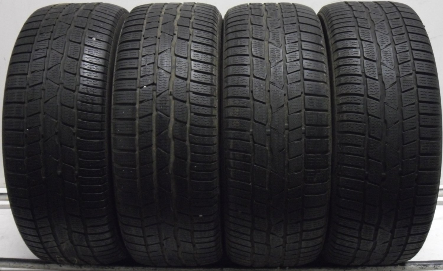 4 2255017 Continental 225 50 17 Winter Car Part Worn Tyres Mud Snow Contact x4  4mm to 5mm