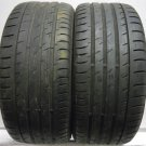 2 2454017 Continental 245 40 17 Conti Sport Contact 3 Part Worn Used Tyres x2