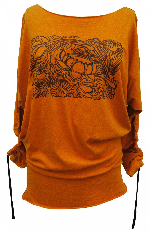 Orange Lotus Shirt