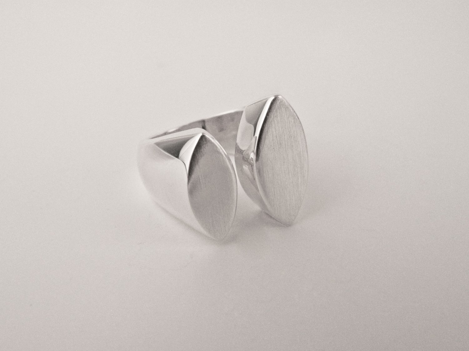 Two-Drop Silver Ring
