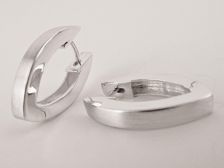 Hinged Silver Earrings