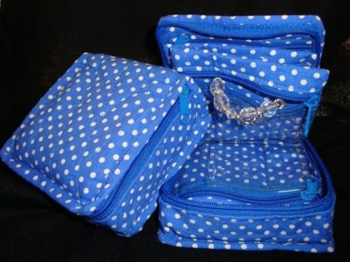 Quilted Cotton Cosmetic & Jewelry Bag