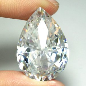 922+ct. BRILLIANT GIANT LAB CLEAR WHITE DIAMOND PEAR
