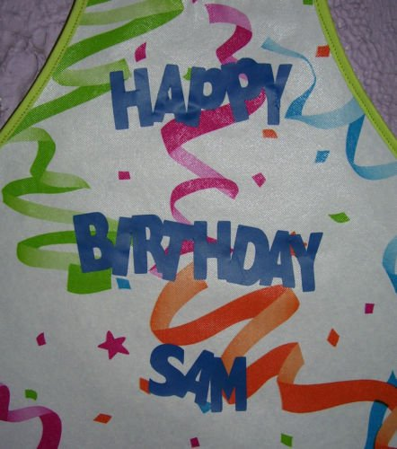Birthday party Smocks with Lettering - Sizes 8-16
