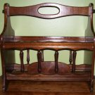 Magazine Rack-Maple-Handle-Vintage