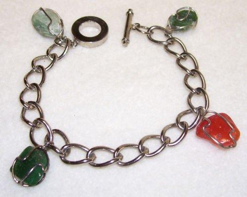Bracelet - Silver - Wire-wrapped Stones-vintage