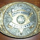 Vintage 1988 Belt Buckle - Grant Parish LA, Deputy Sh