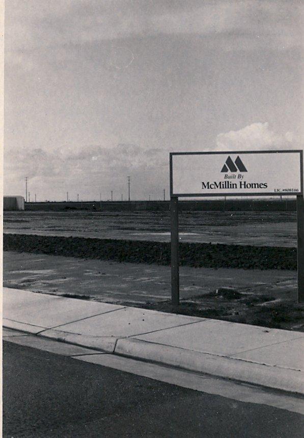 Housing Development Sign