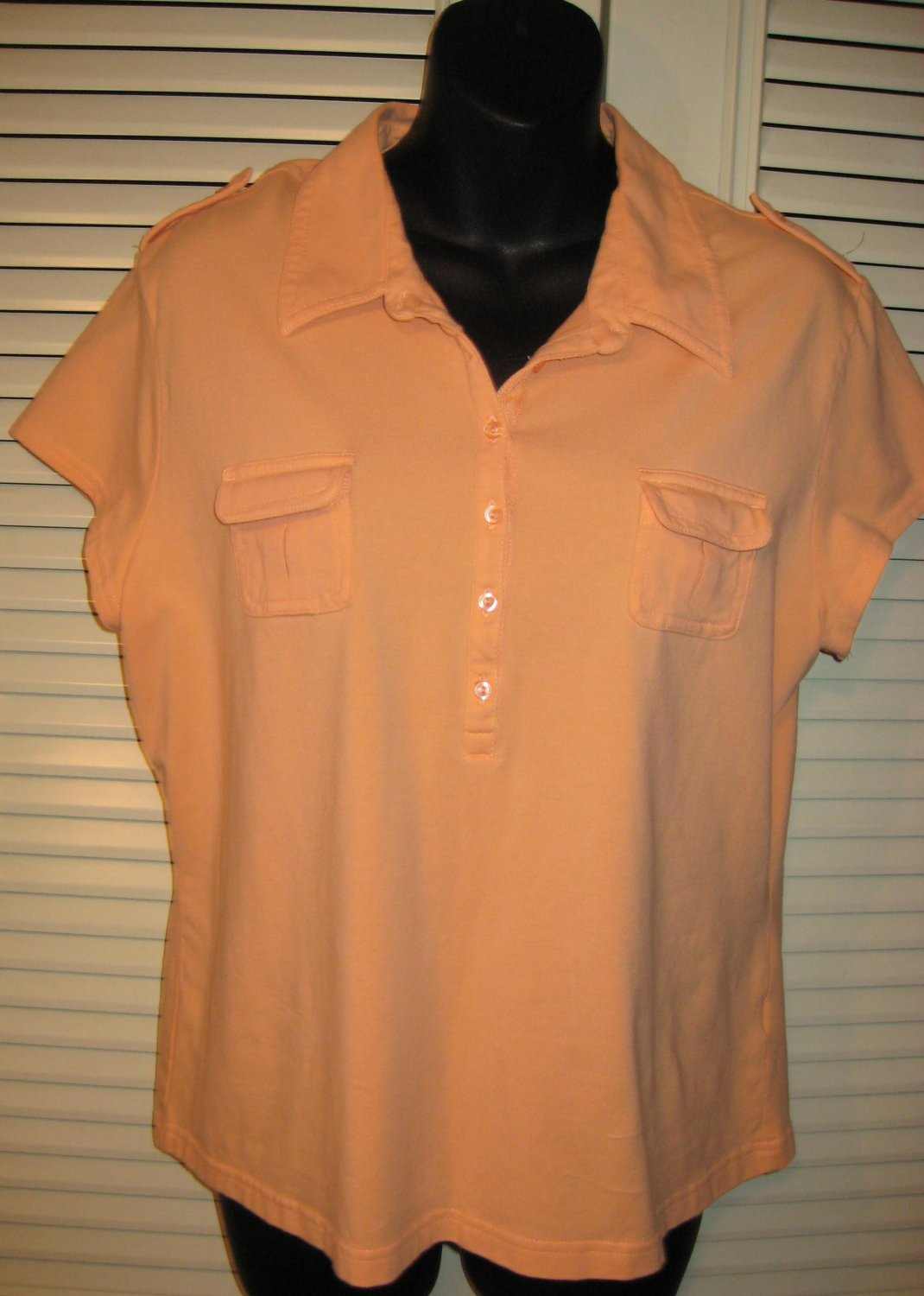SONOMA Peach Top Shirt XL Free S&H in USA/Canada