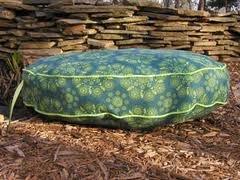 Organic Blue/Green Circular Floral Bed