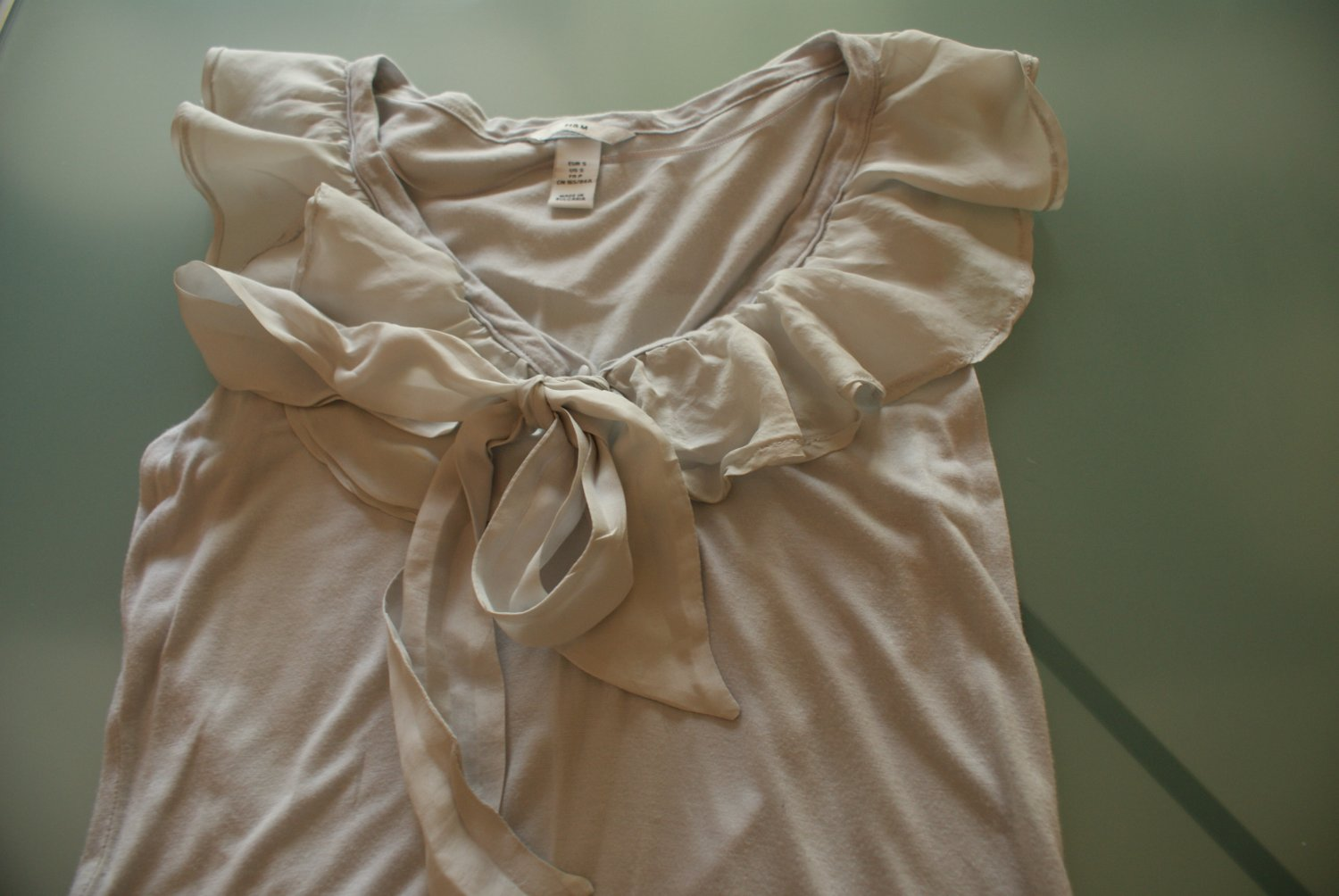 H&M Light Gray (Silver) Top, Size S