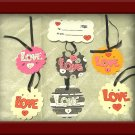 "3"" Scalloped ""Love"" Cardstock Hangtags"