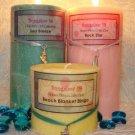 3x9 Palm Wax Pillar Candle Blue Hawaiian