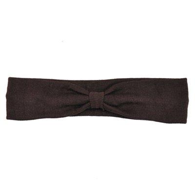 Brown Cotton Knit Headband