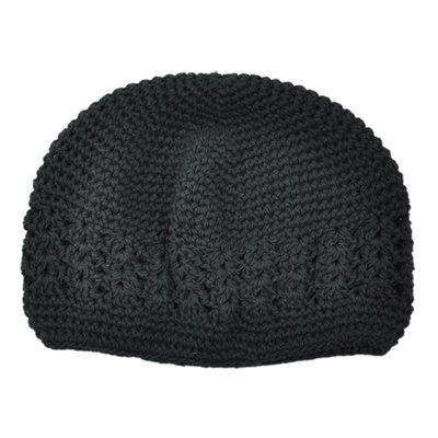 Infant Black Crochet Beanie