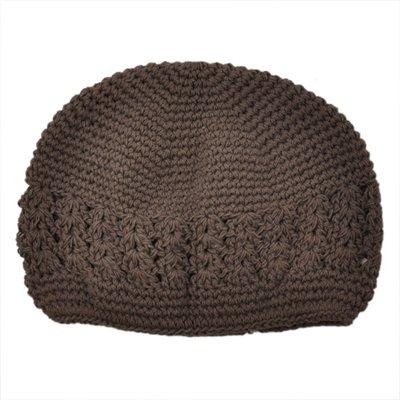 Infant Brown Crochet Beanie