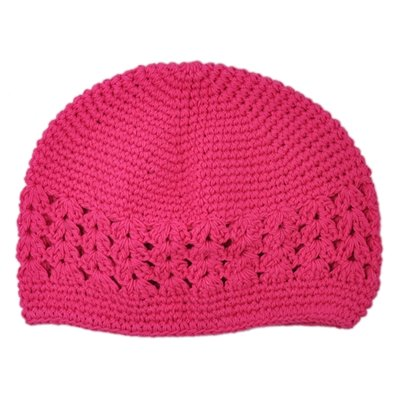 Infant Hot Pink Crochet Beanie