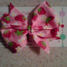 Strawberry Bliss Mini Bow Clip