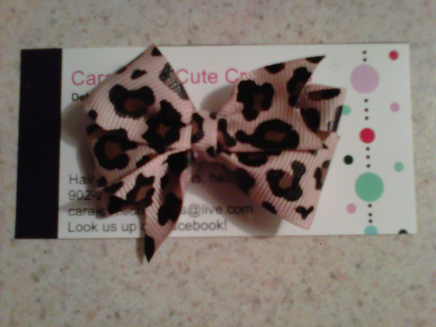 Animal Print Bow Clip