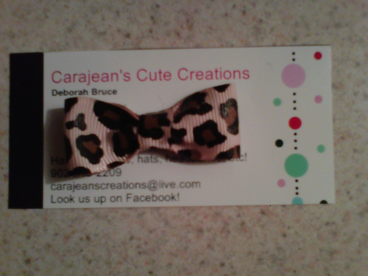 Animal Print Boutique Bow Clip