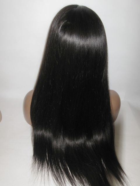 Black Remi Remy Human Hair FULL Lace Wig Wigs 22