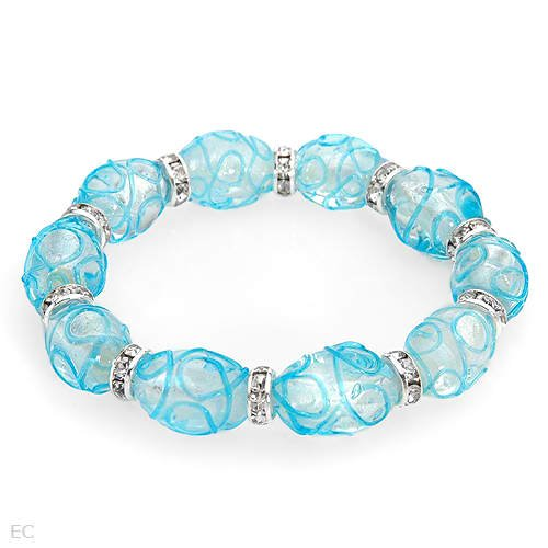Vibrant Brand New Bracelet With Precious Stones - Genuine Crystals and Glass Beads