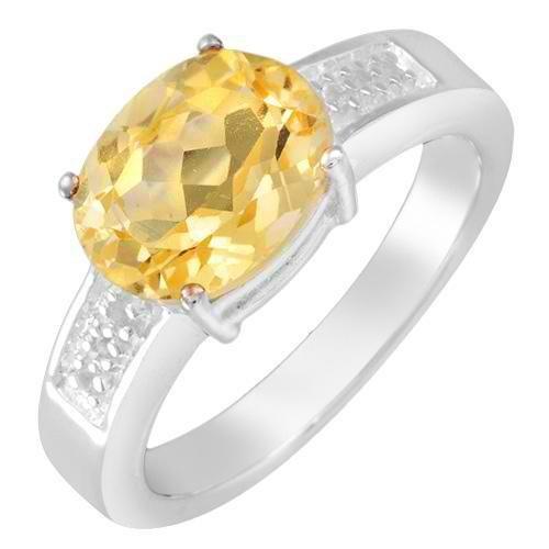 Vibrant Brand New Ring with 2.55ctw Precious Stones - Genuine Citrine and Topaz