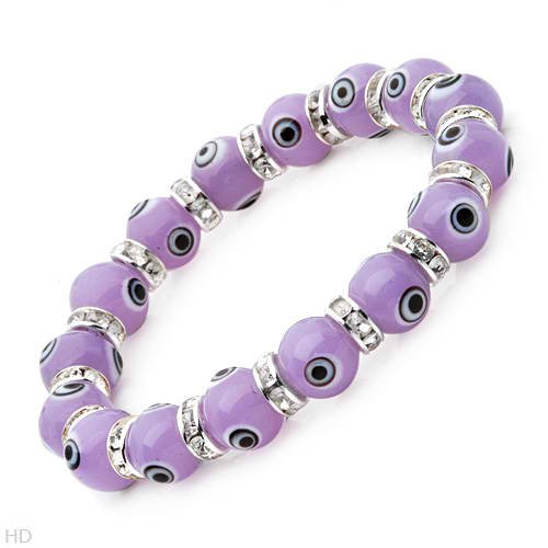 Brand New Bracelet with Precious Stones - Genuine Crystals and Glass Beads Crafted in Silver