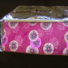 chinese brocade pink fuschia floral evening purse clutch bag