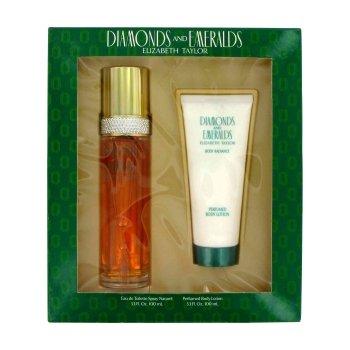 elizabeth taylor diamonds & emeralds perfume & lotion gift set