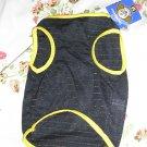 NWT stretch gold yellow black stripe dog clothes shirt costume dress size medium