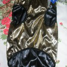 NWT stretch gold metallic lame dog clothes shirt costume dress size large