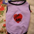 NWT stretch purple love me dog clothes shirt costume dress size large