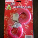red faux fur valentine's day handcuffs s+m vegan