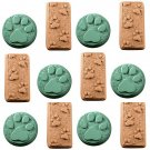 paw print soap molds milky way 6 set lot guest bar