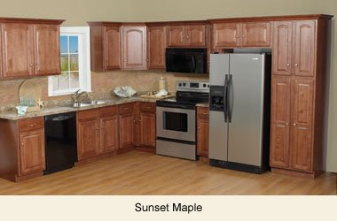 All Wood Builders Series Maple Kitchen Cabinets