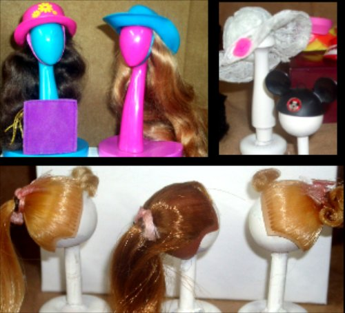 Vintage Barbie Accessories Wigs Purses Hats
